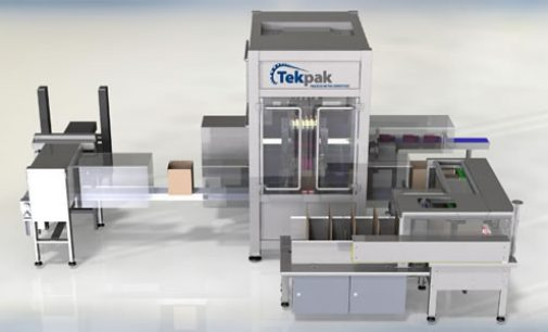Tekpak's Flexible High Speed Case Packer Automates Off-line (WIP) Production