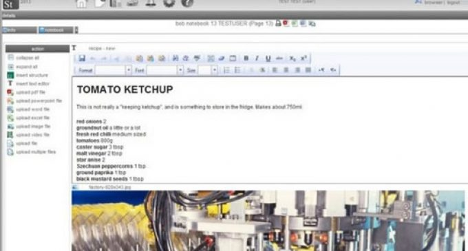 Dotmatics offers web-based food processing data management