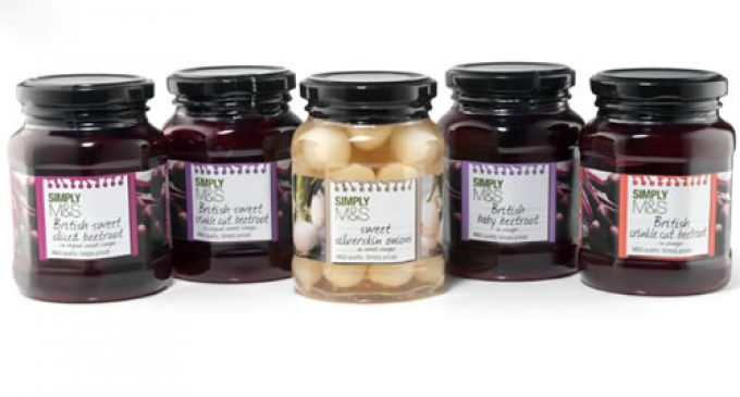 APPE Thermalite jar houses G's M&S pickle range