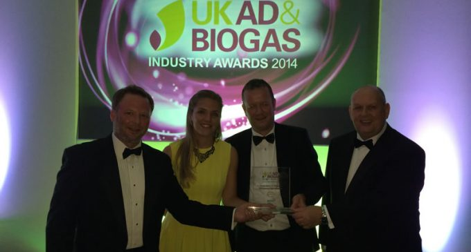 NIJHUIS H2OK AECOMIXTM TECHNOLOGY WINS AD & BIOGAS INDUSTRY AWARD