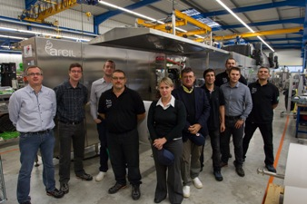 Arcil team members who worked on the A7, the next generation of FFS Arcil machine.
