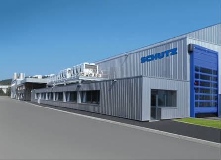 The second Schütz site in France; the new state-of-the-art factory in Saint-Étienne.