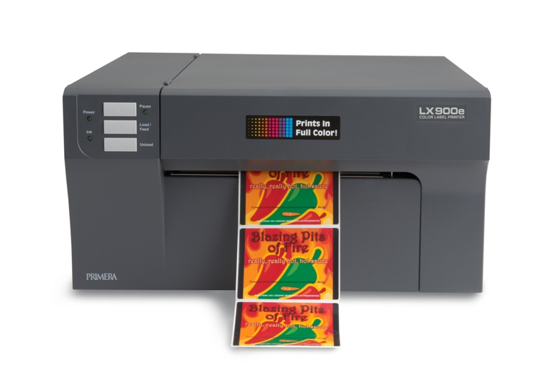 Primera's LX900e Color Label Printer Adds Pigment Ink Option