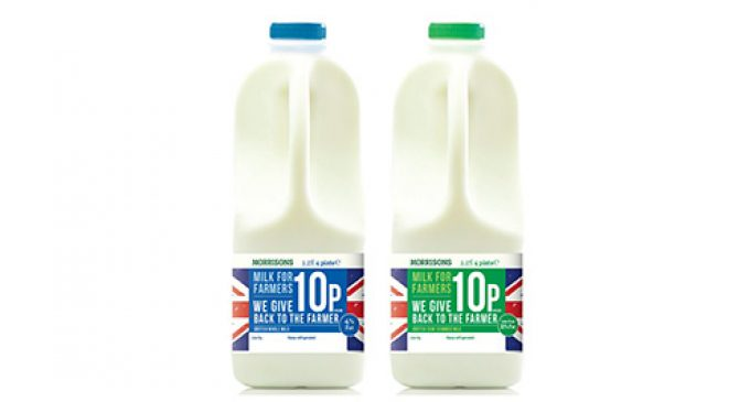 Morrisons Milk Brand 'Milk For Farmers' Goes on Sale