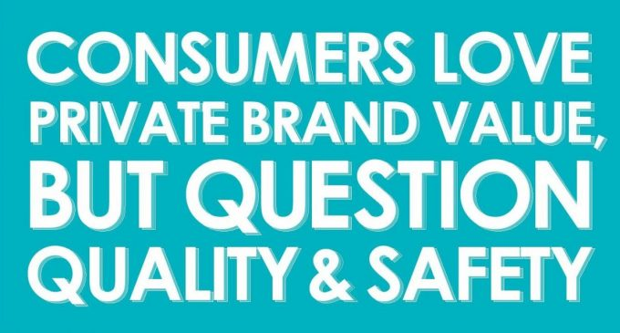 95% of Consumers Buy Private Brands but Concerns in Food Quality and Safety Point to Need for Greater Transparency