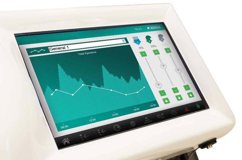 Enhanced Touchscreen Control Enables Easier Operation of Bühler's Optical Sorter