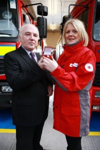 Terry Cross OBE, Delta & Sharon Sinclair, Red Cross