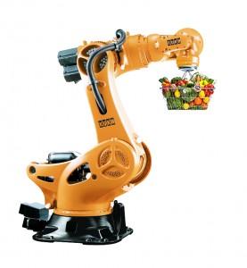APRIL robot with food basket