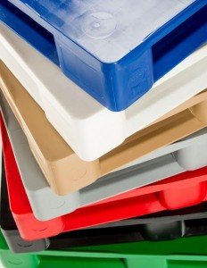 Our Hygienic pallets have fully sealed non-absorbent surfaces and are available in a range of colours.