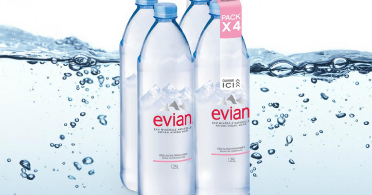 evian to roll out new pack technology. Black Bedroom Furniture Sets. Home Design Ideas