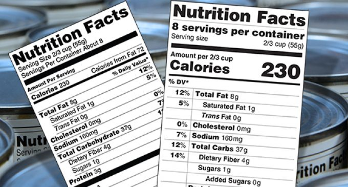 FDA Modernises Nutrition Facts Label For Packaged Foods
