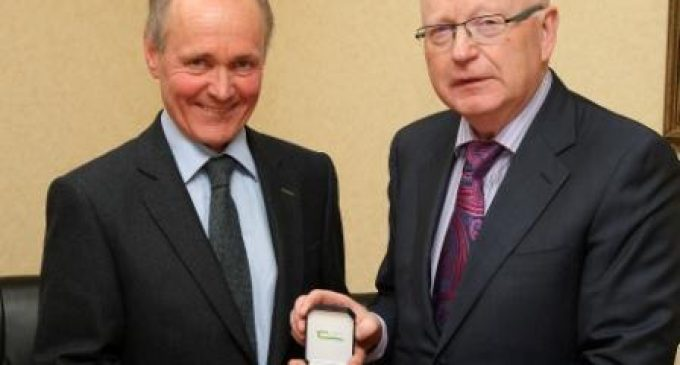Dr Padraig O'Kiely Presented With Teagasc Gold Medal