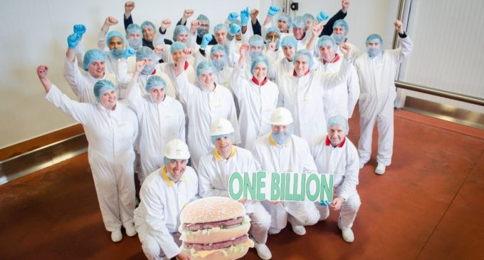 Dawn Meats Produces Billionth Irish Beef Burger For McDonald's