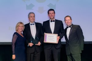 Culinas Operations Director - Tom Middlemiss and Projects Implementation Manager James Preston receive their CILT accolade