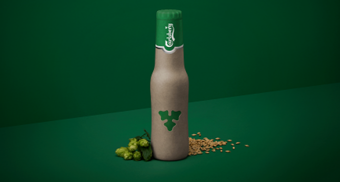 Carlsberg Unveils New Green Fiber Bottle Design