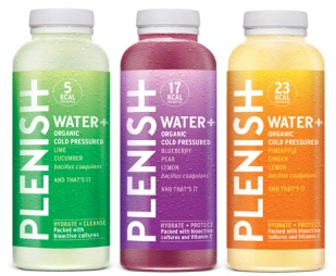 Plenish drinks get plush new bottle design
