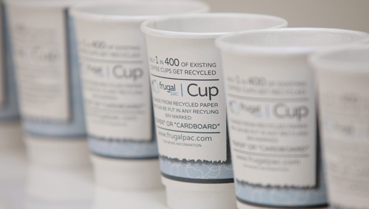 Irish pack firm enters coffee cup partnership with Frugalpac
