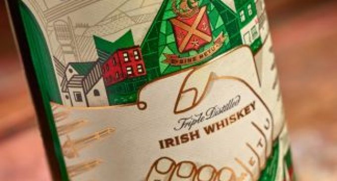Special Jameson label art created for St Patrick's Day