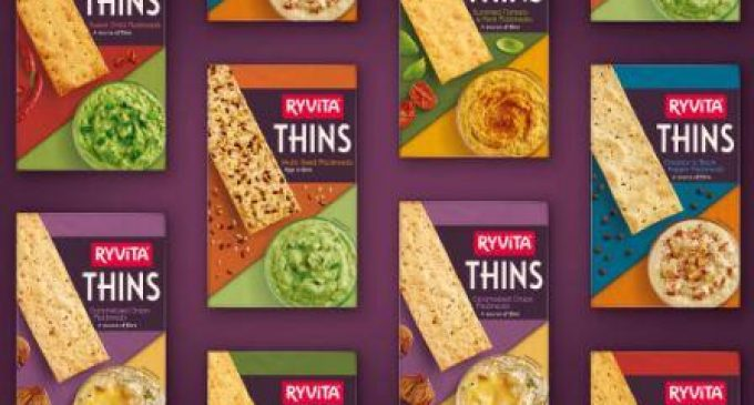 Refreshed Packaging For Ryvita Thins