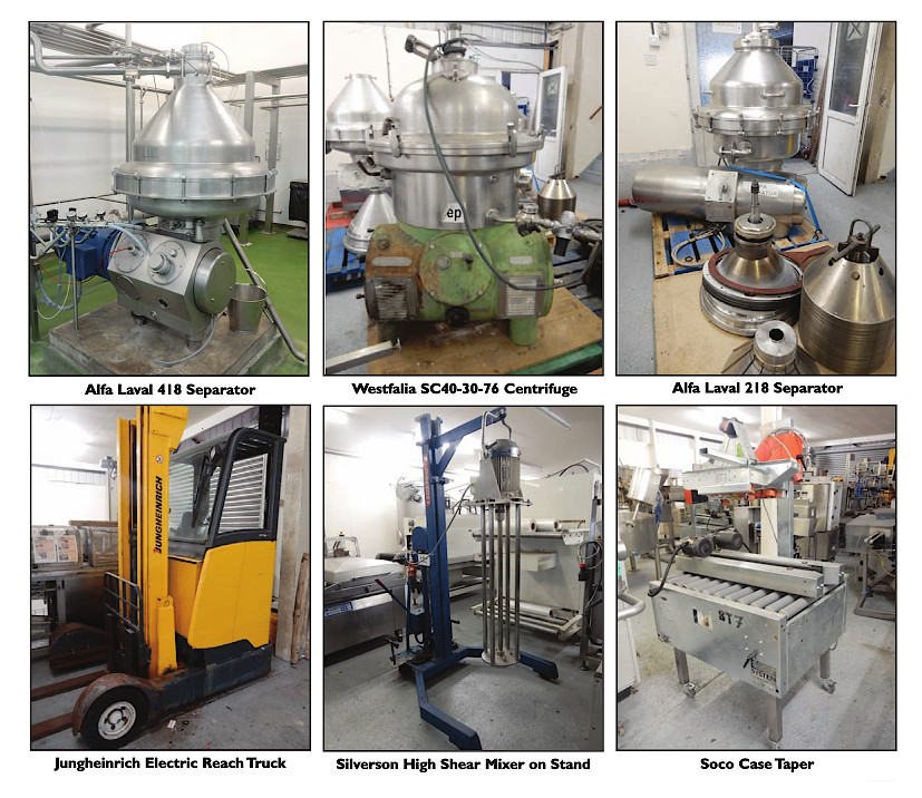 For sale by on-line auction Processing and Packaging equipment