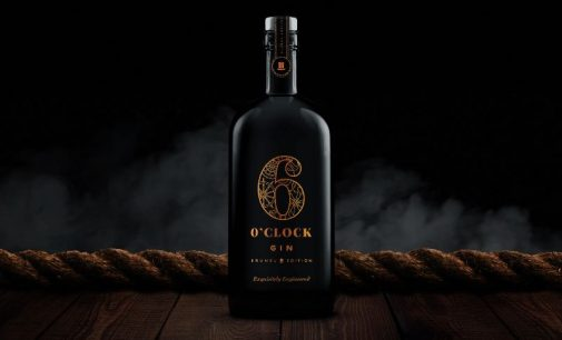 Croxsons' Stunning Black Bottle For 6 O'Clock Gin's Limited Edition Debut