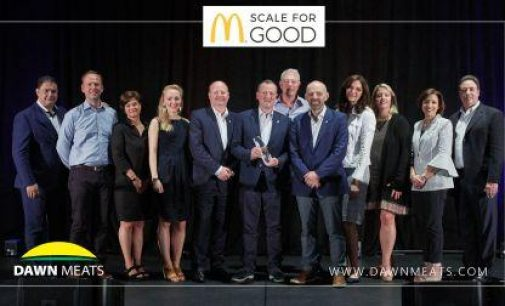"Dawn Meats Recieves Global ""Scale for Good"" Award From McDonald's"