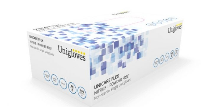 Unicare Flex Nitrile – The Environmentally Friendly Food Approved Glove