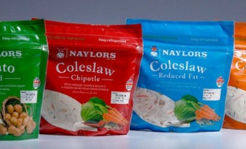 Convenience at its Best: Naylors' Ready-to-enjoy Coleslaw in Reclosable Schur®Star Stand-up Bag