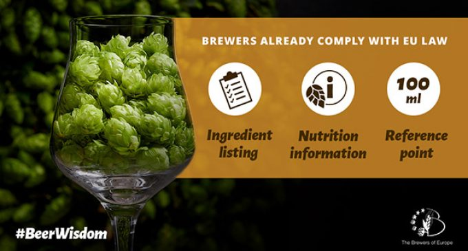 The Brewers of Europe Ahead of Target in Fulfilling Commitment For Comparable Information