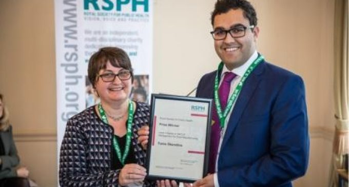 It's a Double-whammy For Verner Wheelock at RSPH Prize-giving and AGM