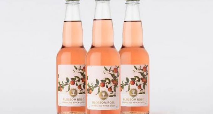 Strongbow Blossom Rosé Sparkling Apple Cider Launched With Identity and Packaging Design by Denomination