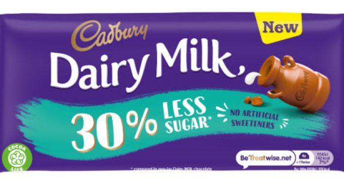 Cadbury Dairy Milk Expands Range With New 30% Less Sugar Choice