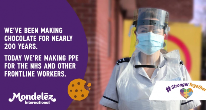 Mondelēz International uses 3D chocolate-making technology to make medical visors for NHS and frontline staff