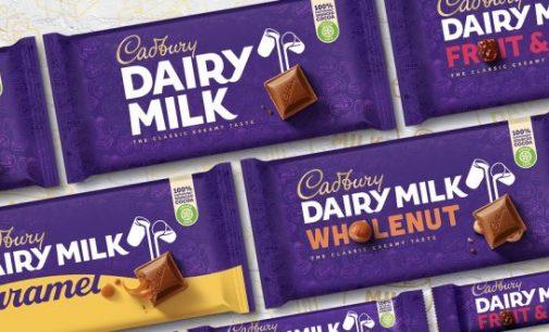 Cadbury reveals first image overhaul in 50 years