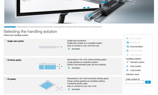 70% time savings in system configuration and ordering achievable with the Festo Handling Guide Online